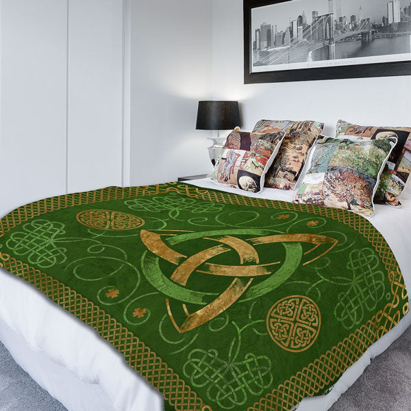 Celtic Knots Design Premium Irish Fleece Blanket