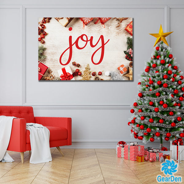 christmas joy word print wall art sign