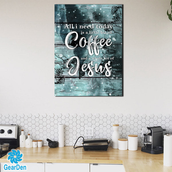 """Coffee and Jesus"" Premium Canvas"
