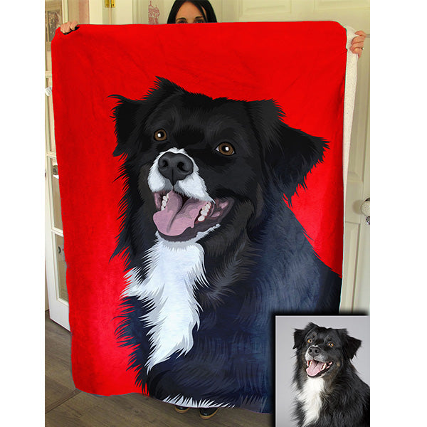 Custom Pet Art Premium Fleece Blanket