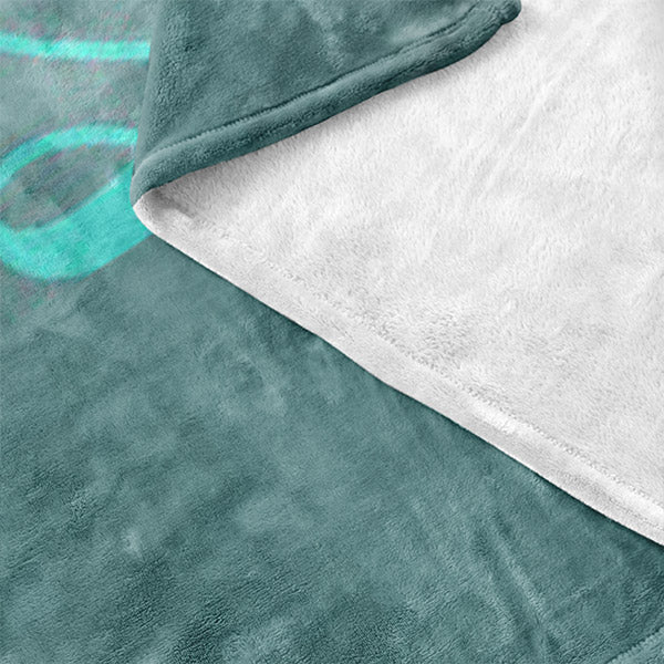 """Personalized Family Name"" Premium Teal Fleece Blanket"