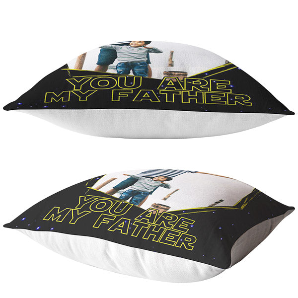 "Personalized Photo Pillow ""Dad- You Are My Father"""
