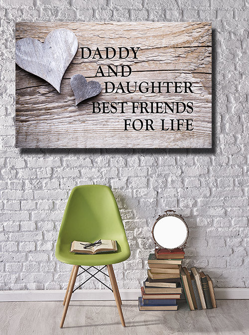 """Daddy And Daughter"" Premium Canvas"