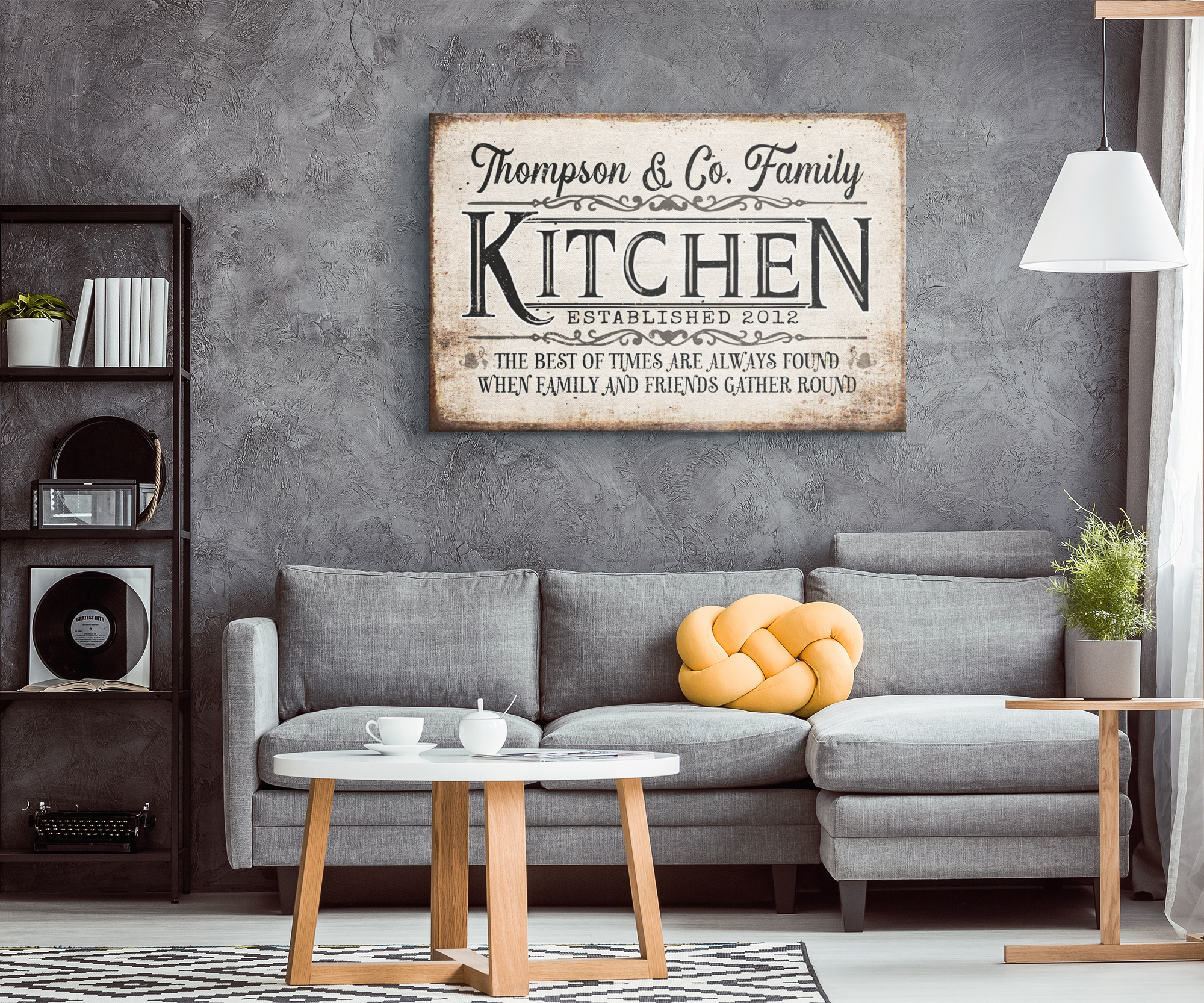 "Personalized ""Kitchen - The Best Of Times..."" Premium Canvas"