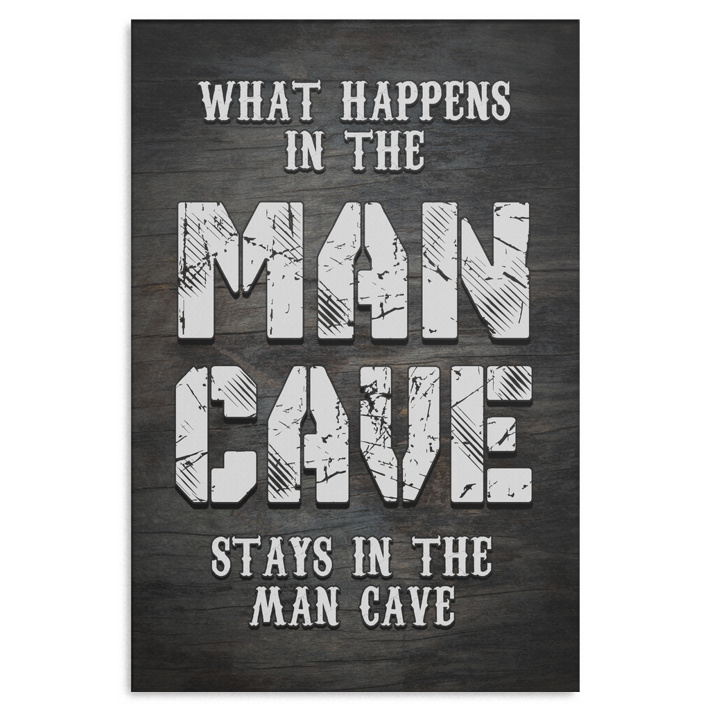 """Man Cave"" Premium Canvas"