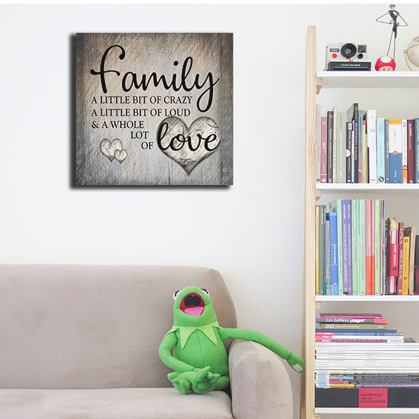 """Family.. Love"" Premium Square Canvas Wall Art"