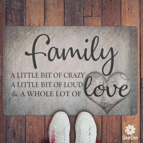 """Family.. Love"" Premium Doormat"
