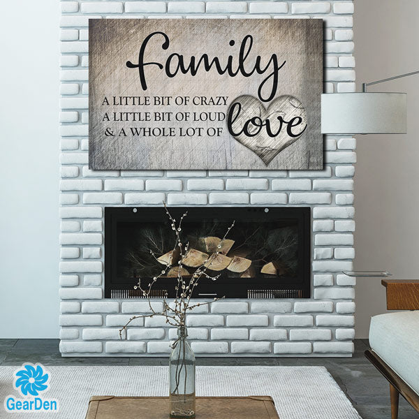 Quot Family Love Quot Premium Canvas Gearden