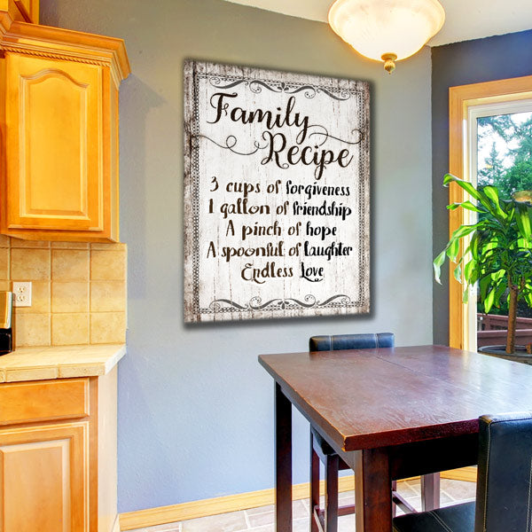 """Family Rules - Endless Love"" Premium Canvas Wall Art"