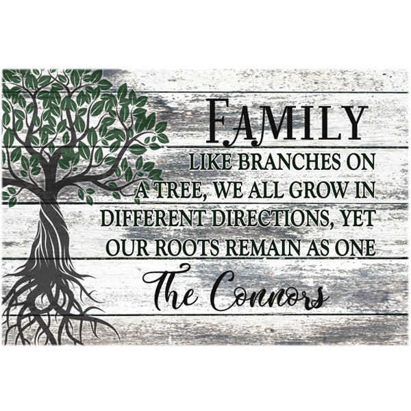 "Personalized ""Family Tree"" Premium Canvas"