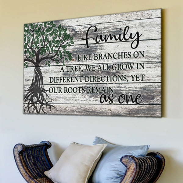 """Family Tree - Roots As One"" Premium Canvas"