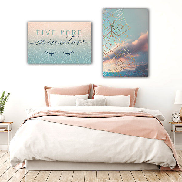 """Gold Framed Art Deco Sky"" Premium Canvas"
