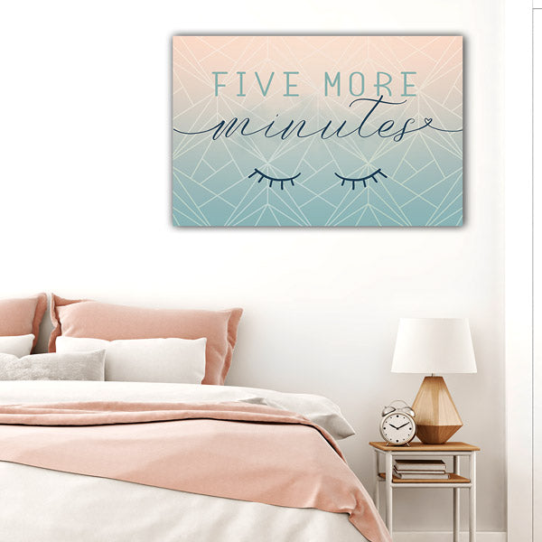 """Five More Minutes"" Premium Canvas Wall Art"