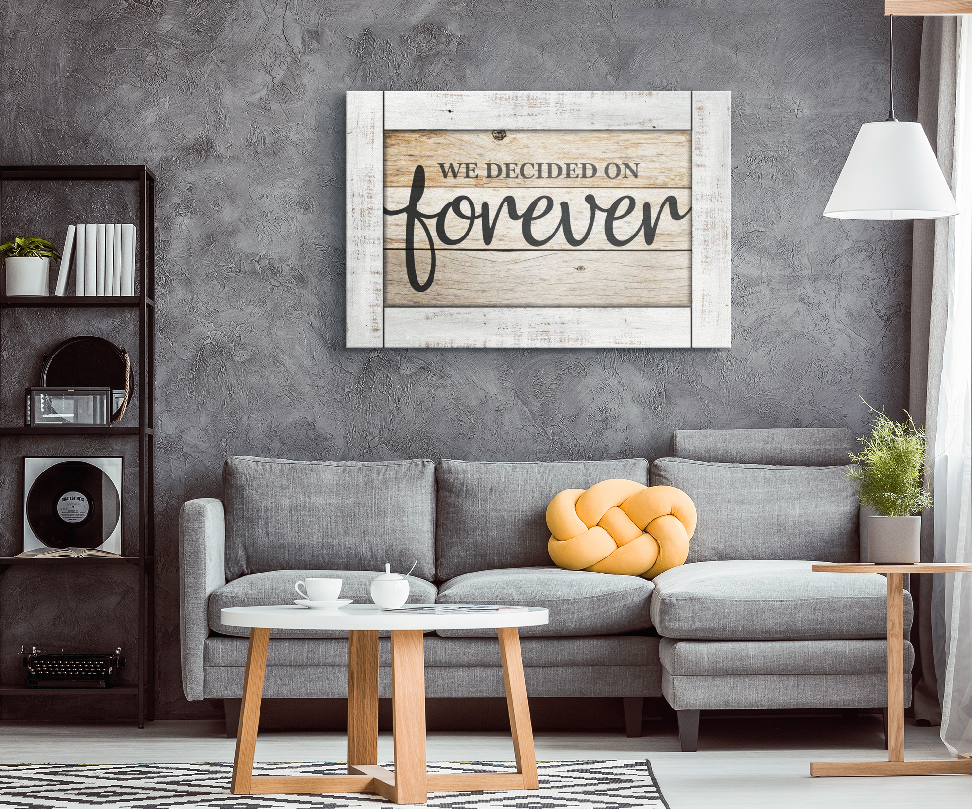 """We Decided On Forever"" Premium Canvas"