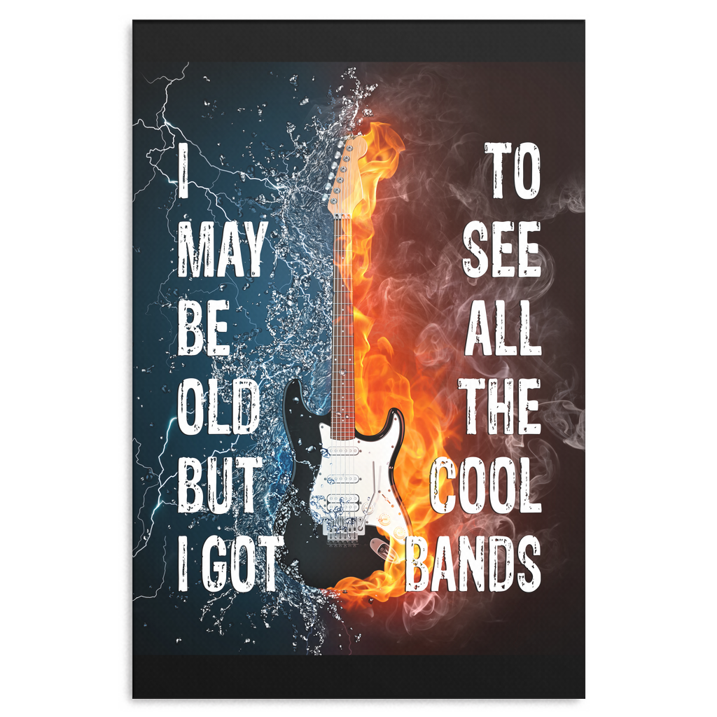 """All The Cool Bands"" Premium Canvas"