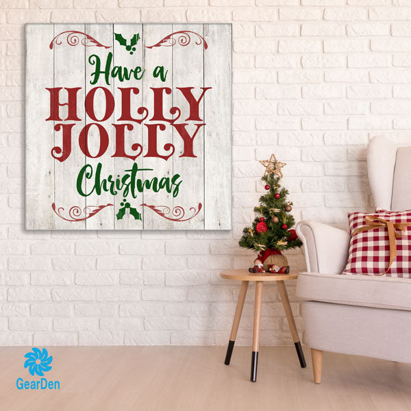 """Holly Jolly Christmas"" Premium Canvas"