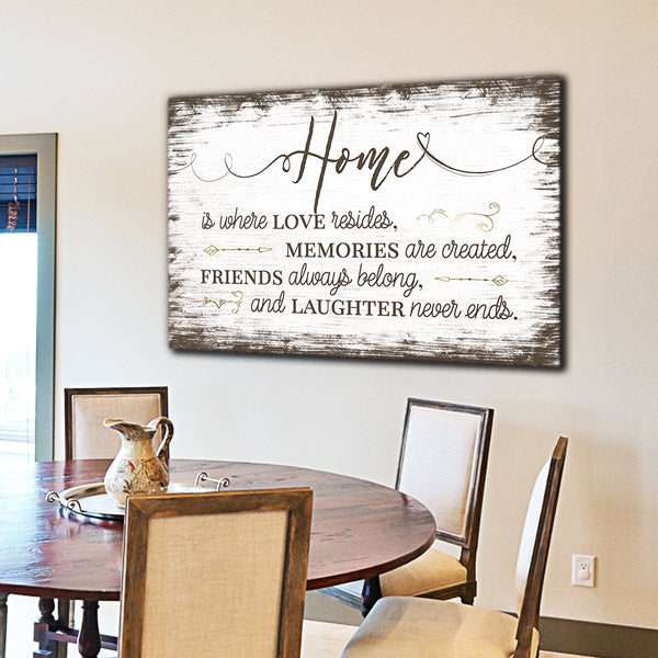 """Home Is Where Love Resides"" Premium Canvas"