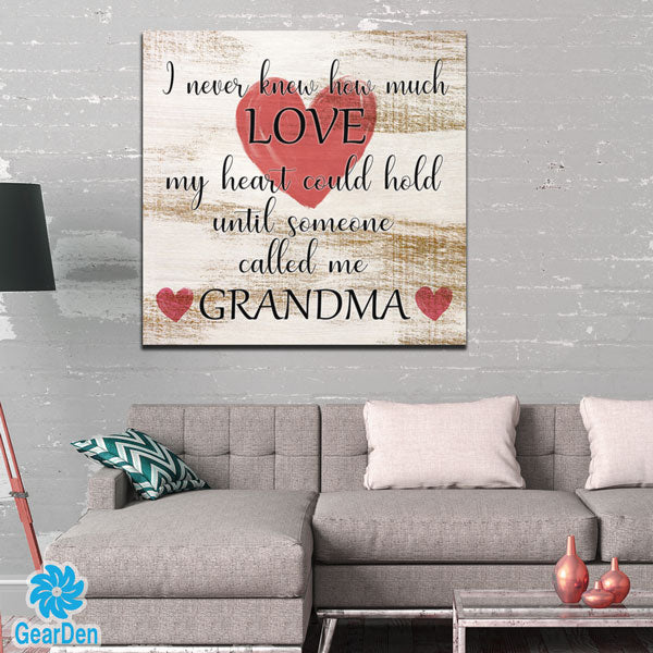 """Until Someone Called Me Grandma"" Canvas Wall Art"