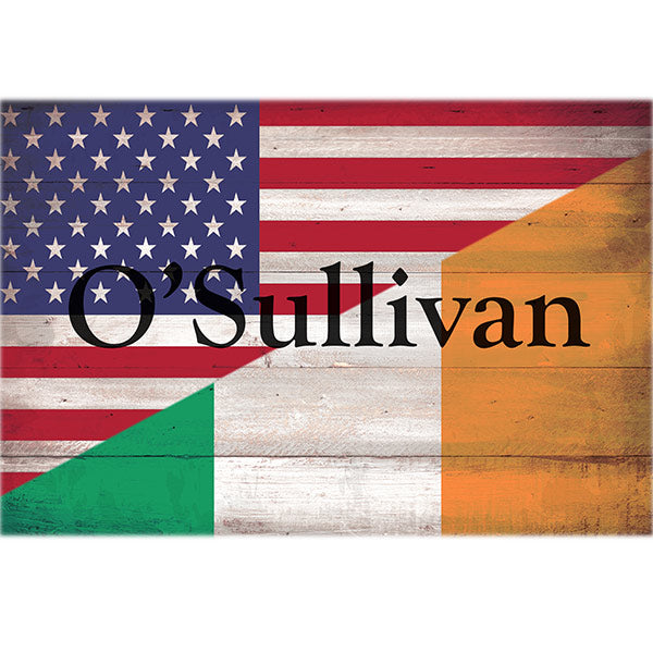 Personalized Irish American Flag & Family Name Premium Canvas