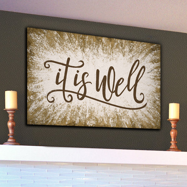 """It Is Well"" Inspirational Premium Canvas"