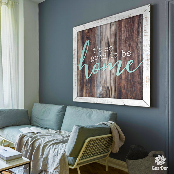 its so good to be home living room canvas wall art