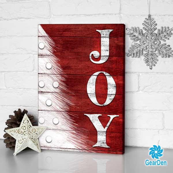 """JOY"" Premium Christmas Canvas"
