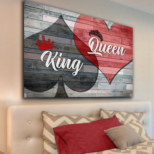 "Bedroom Canvas Wall Art ""King Of Spades And Queen Of"