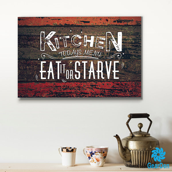 """Kitchen - Today's Menu"" Premium Canvas"