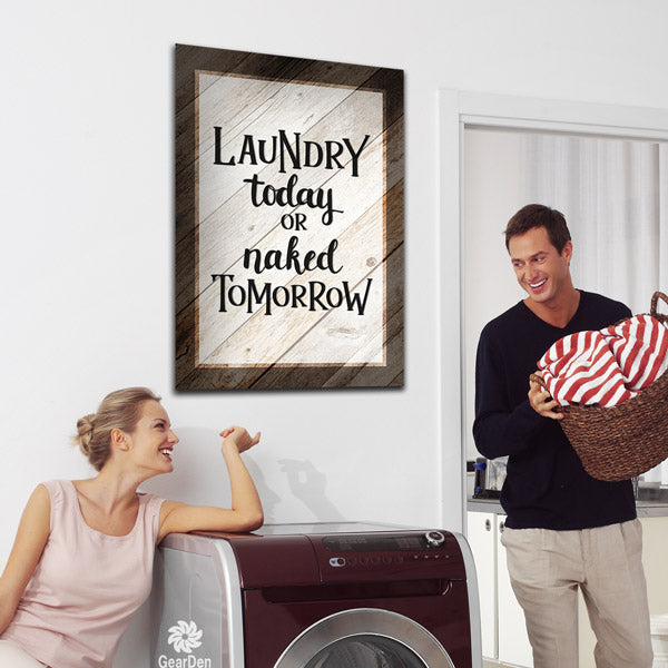 laundry today room sign funny wall art typography