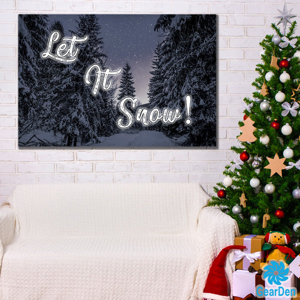 """Let It Snow"" Premium Canvas"