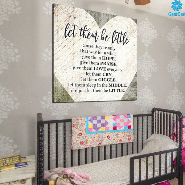 """Let Them Be Little"" Canvas Wall Art"