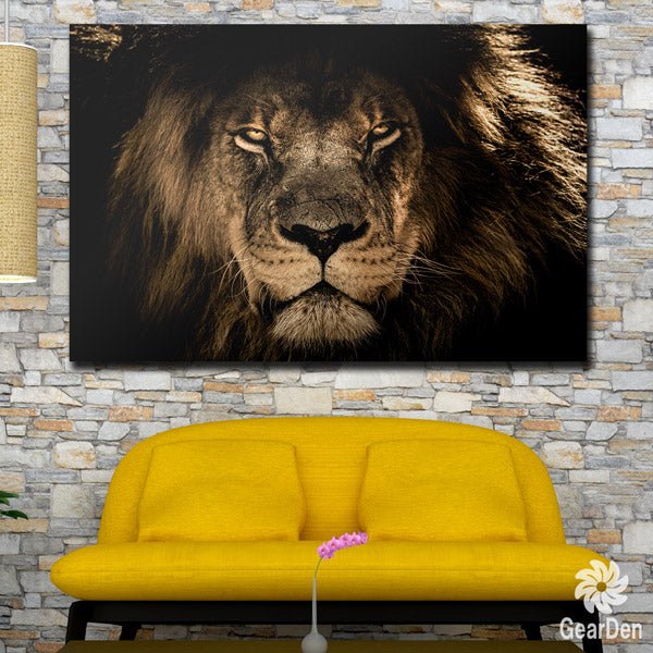 """King Of The Jungle"" Premium Canvas Wall Art"