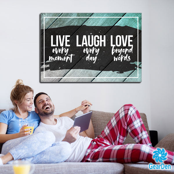 """Live Laugh Love"" Premium Canvas"