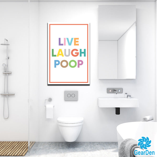 """Live Laugh Poop"" Premium Canvas"