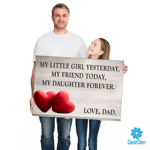 """My Daughter Forever - Love, Dad"" Premium Canvas"