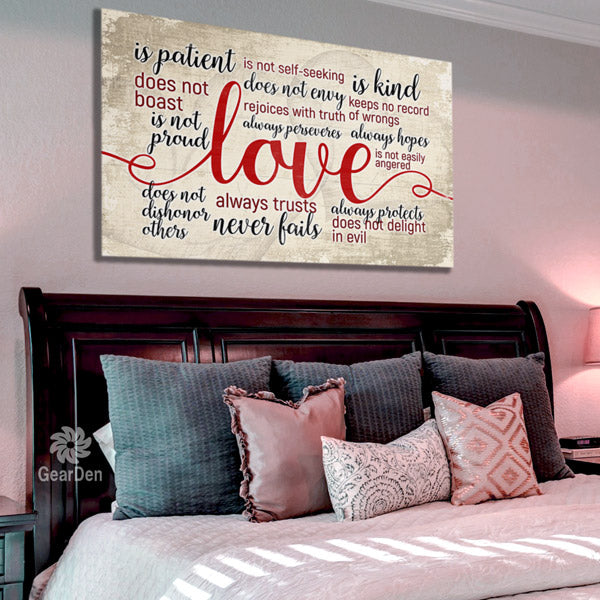 """Love Is Patient ... Love Is Kind"" Canvas Wall Art"