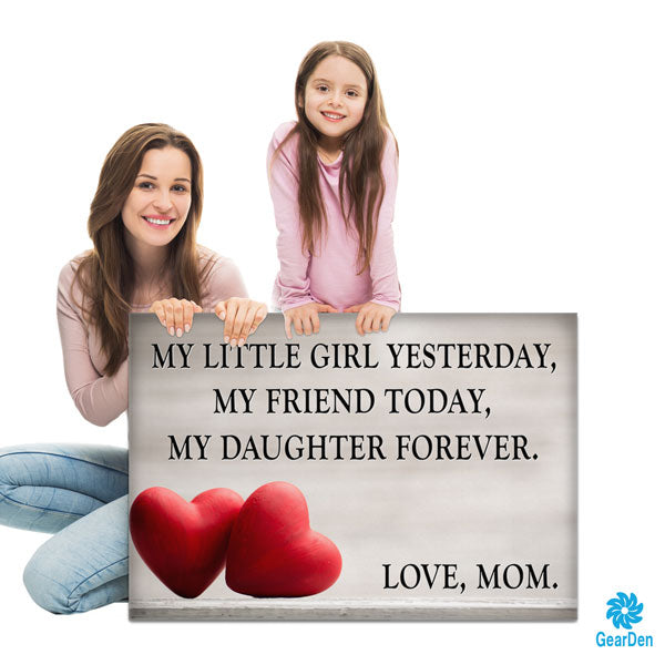 """My Daughter Forever - Love, Mom"" Premium Canvas"
