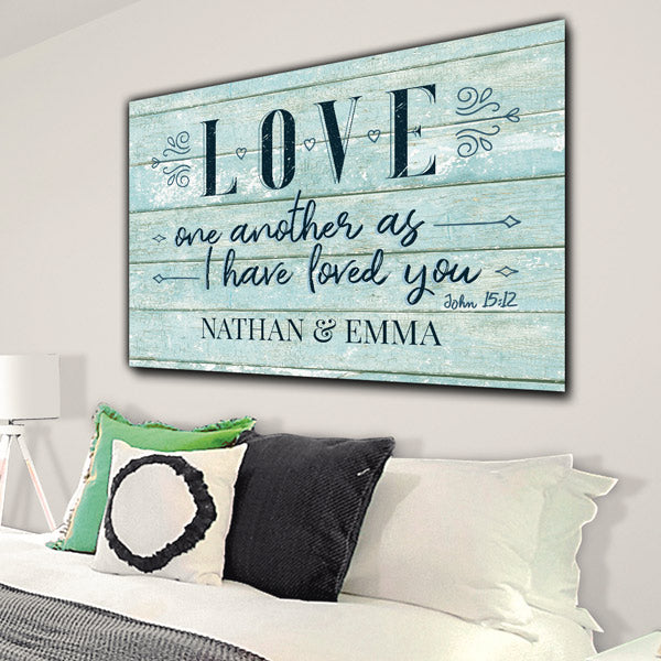 "Personalized ""Love One Another"" Premium Canvas"