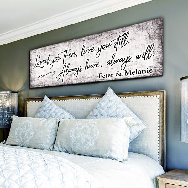 "Personalized ""Loved You Then, Love You Still"" Panoramic Canvas Wall Art"