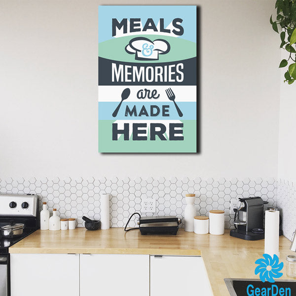"""Meals & Memories"" Premium Canvas"