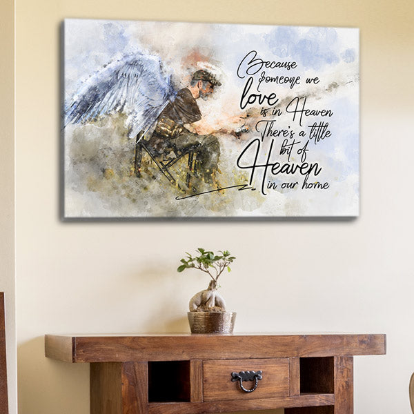 """Someone We Love Is In Heaven"" Premium Canvas Wall Art"