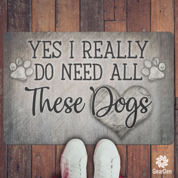 """All These Dogs"" Doormat"