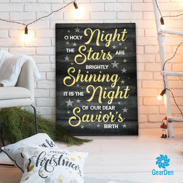 """O Holy Night"" Premium Christmas Canvas"