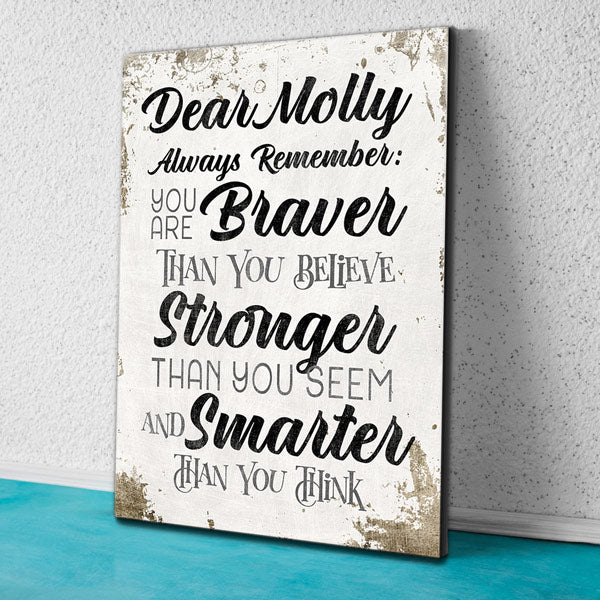 "Personalized ""Always Remember.."" Inspirational Premium Canvas"