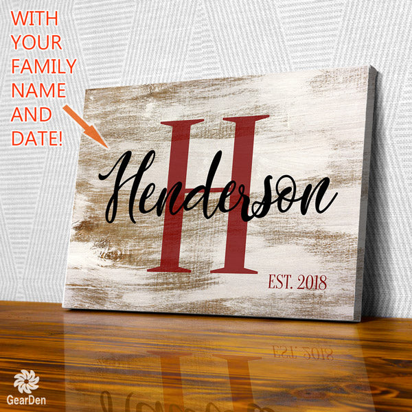 "Personalized ""Family Name"" Premium Canvas"