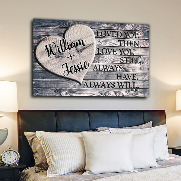 "Personalized ""Loved You Then, Love You Still"" Premium Canvas Wall Art"