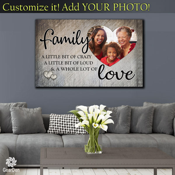 "Photo Personalized ""Family.. Love"" Premium Canvas"