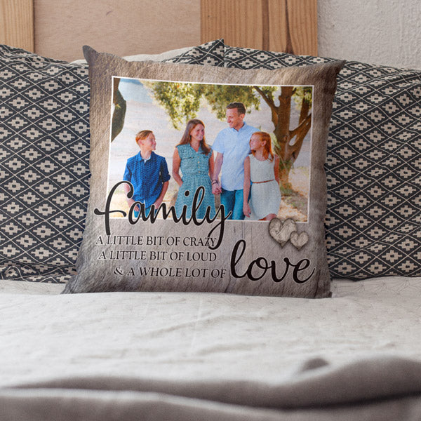 "Personalized Photo Pillow ""Family... Love"""