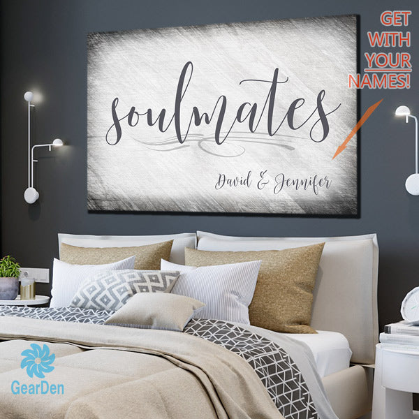 "Personalized ""Soulmates"" Premium Canvas"