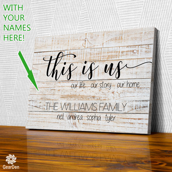 personalized this is us our home family names canvas wall art